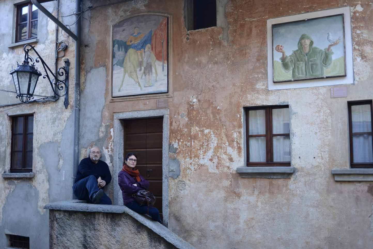 Salvatore Giannella e Benedetta Rutigliano ad Arcumeggia (credits by VITTORIO GIANNELLA)
