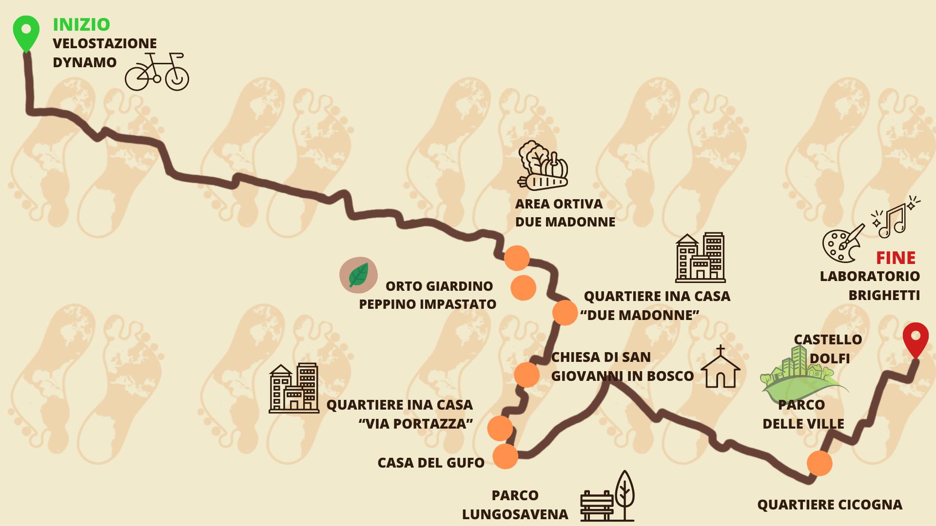 Itacà | Bologna 2021 | Mappa Savena San Lazzaro